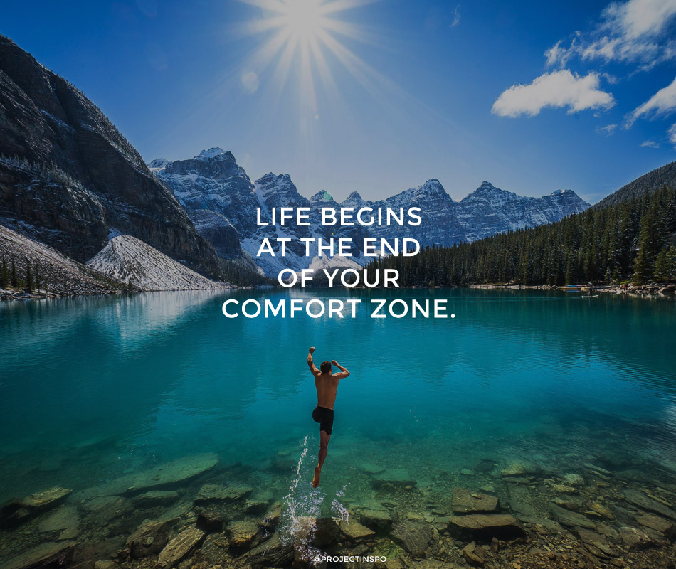 Inspirational Quote Travel Project Inspo Comfort Zone Freme Travel